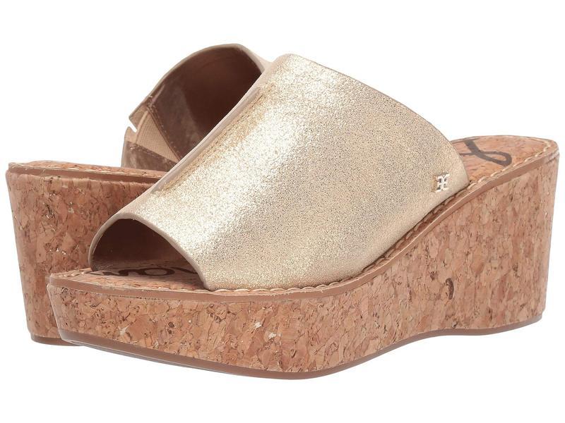 サムエデルマン レディース ヒール シューズ Ranger Molten Gold Metallic Cow Suede Leather