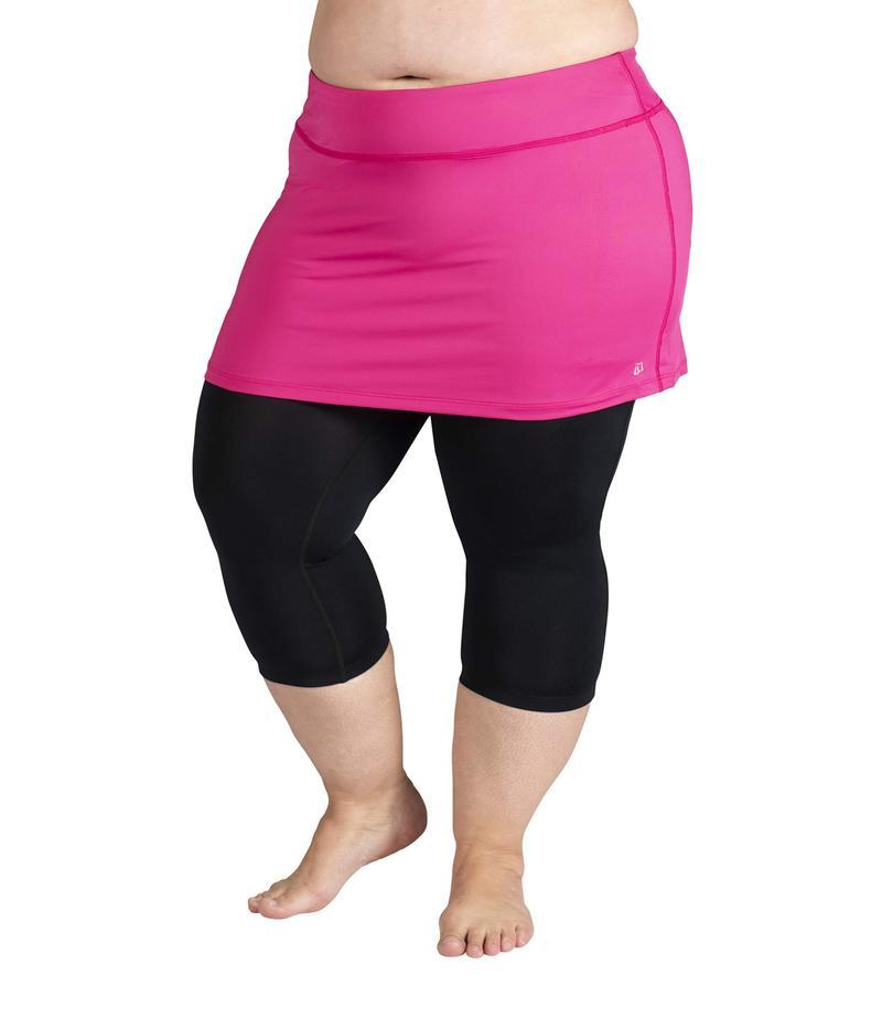 スカートスポーツ レディース カジュアルパンツ ボトムス Plus Size Lotta Breeze Capris Skirt Fuchsia/Black