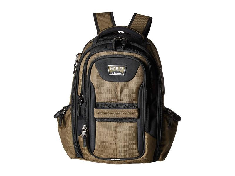 トラベルプロ メンズ バックパック・リュックサック バッグ BOLD by Travelpro Computer Backpack Olive/Black