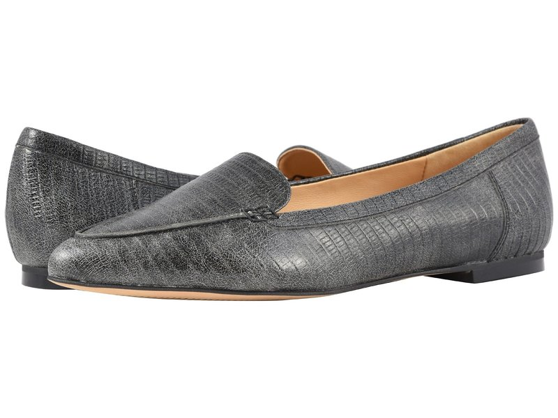 トロッターズ レディース サンダル シューズ Ember Faded Black Lizard Stamped Leather