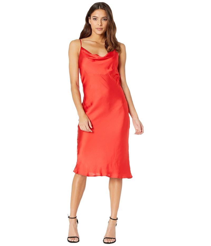 バードット レディース ワンピース トップス Slip Dress Fire Red