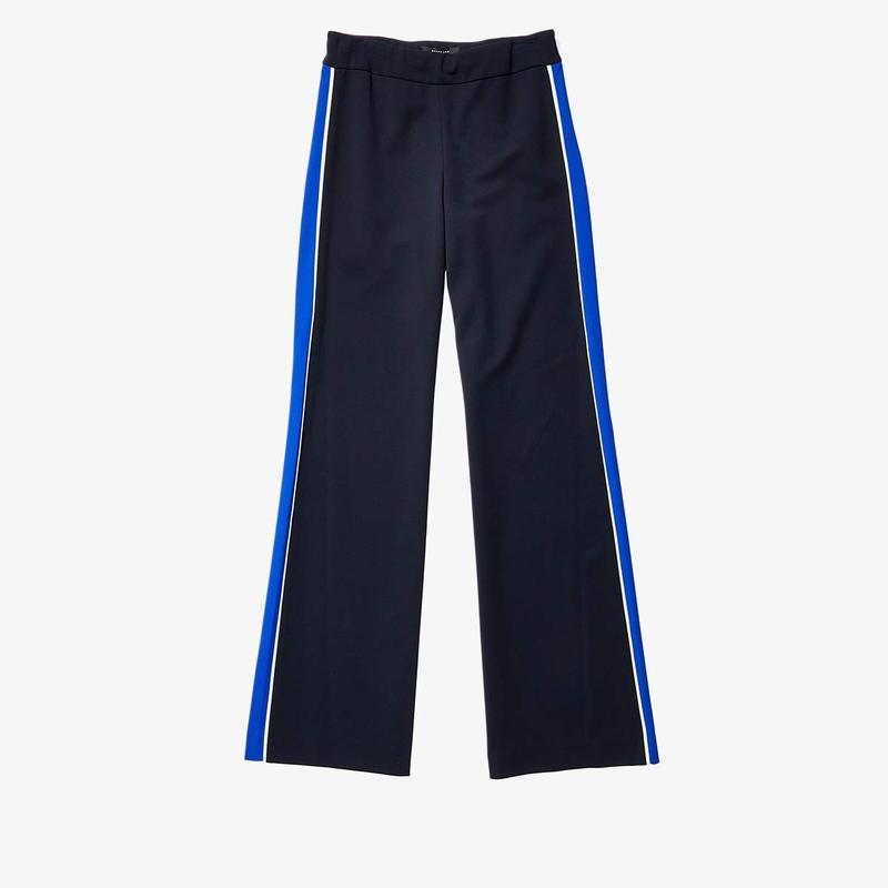 デレクラム レディース カジュアルパンツ ボトムス Charlee Wide Leg Trousers Navy 当店では 楽天年間ランキング受賞 名入れ 法要