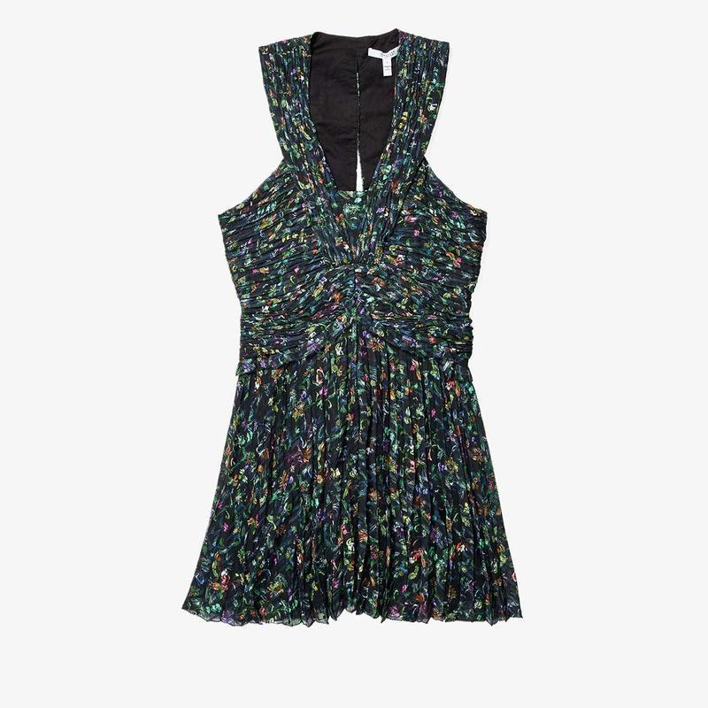 デレクラムテンクロスバイ レディース ワンピース トップス Ruched Pleated Mini Dress Black
