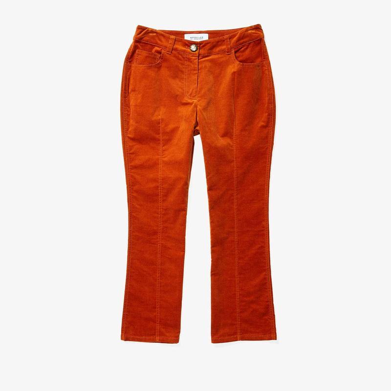 デレクラムテンクロスバイ レディース デニムパンツ ボトムス Cropped Flare Jean Trousers Rust