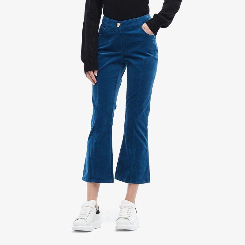 デニムパンツ Slate レディース Flare Trousers Jean デレクラムテンクロスバイ ボトムス Blue Cropped