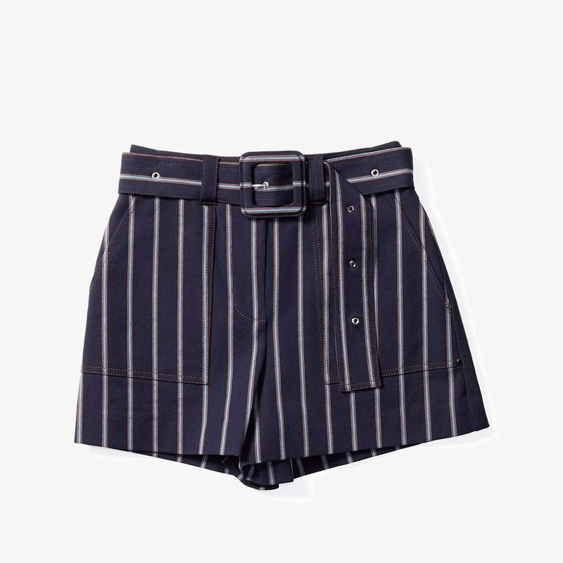 デレクラムテンクロスバイ レディース ハーフパンツ・ショーツ ボトムス Belted Utility Shorts Navy Multi