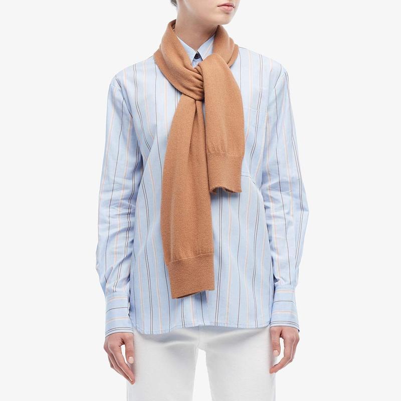Blue Combo w/ Knit デレクラムテンクロスバイ Shirt Sleeve Scarf トップス Long シャツ Button-Down レディース