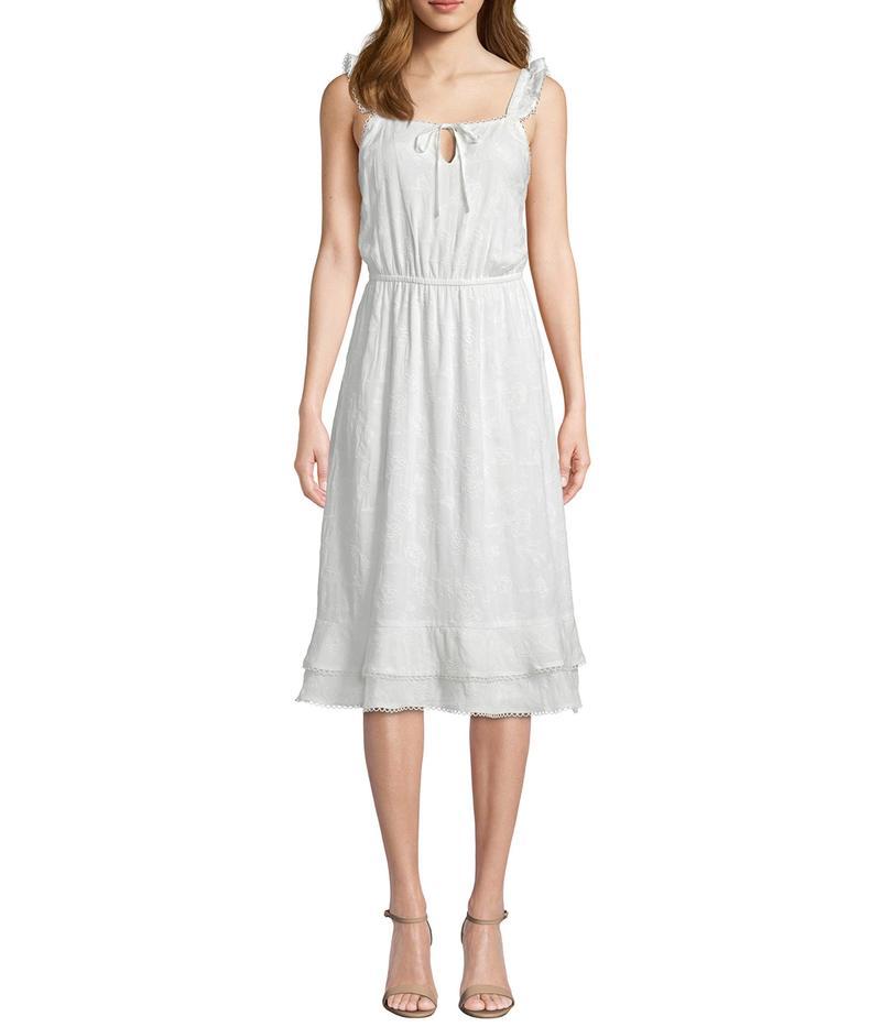 カップケーキアンドカシミア レディース ワンピース トップス Avalon Floral Embroidered Midi Dress Marshmallow