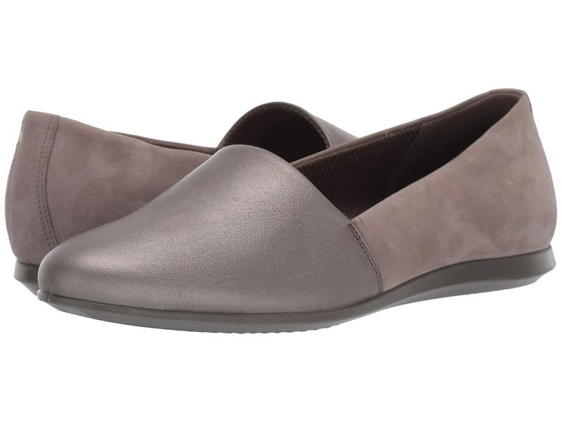 エコー レディース サンダル シューズ Touch Ballerina 2.0 Flat Stone Metallic/Warm Grey
