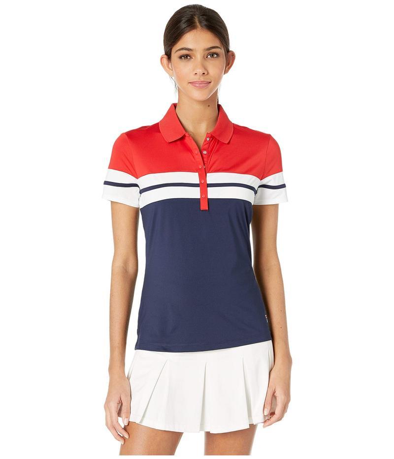 フィラ レディース シャツ トップス Heritage Tennis Polo Navy/Chinese Red/White