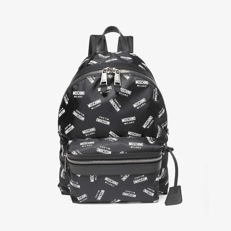 モスキーノ メンズ バックパック・リュックサック バッグ Milano Labels Backpack Black