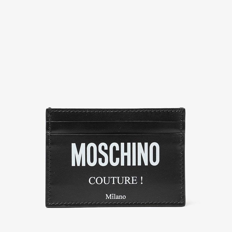 モスキーノ メンズ 財布 アクセサリー Couture! Card Holder Black