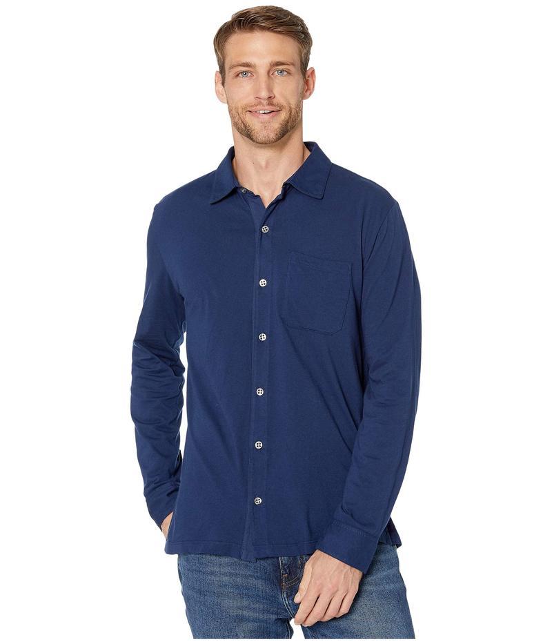 モッドドック メンズ シャツ トップス Santa Monica Long Sleeve Button Front Shirt Naval