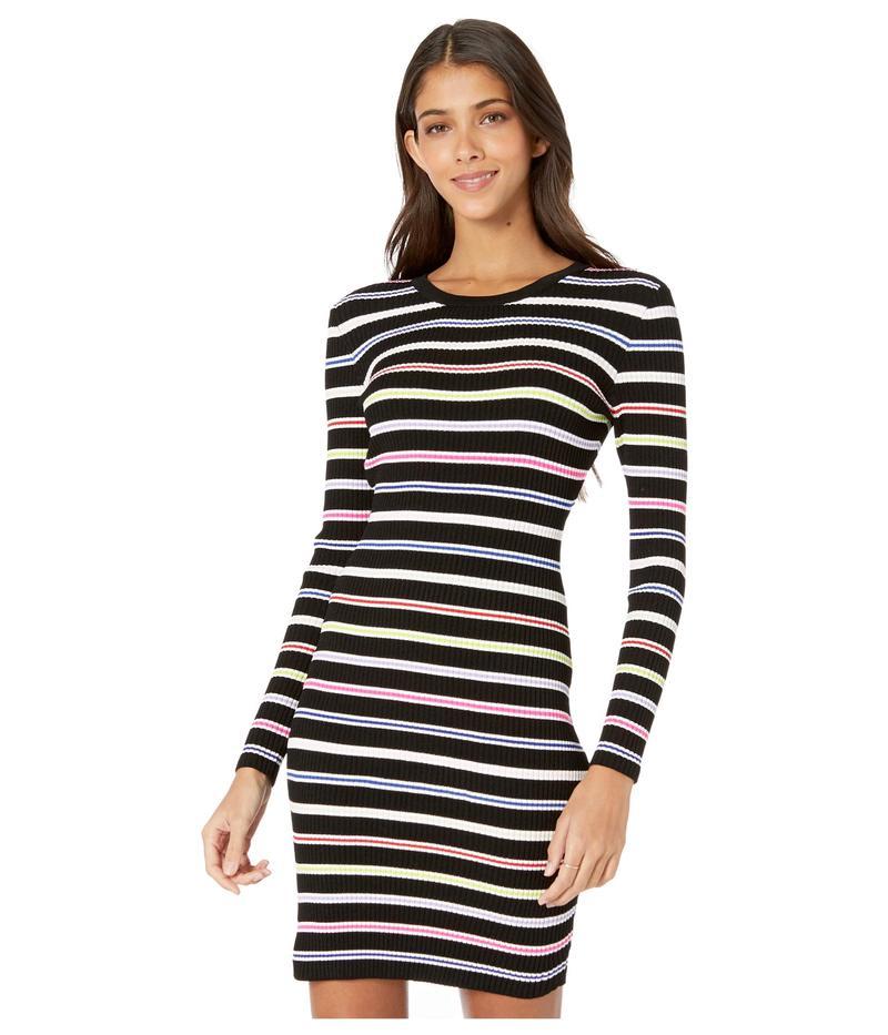 ワンピース Long レディース Dress Black Multi ミリー Stripe Sleeve Multi トップス