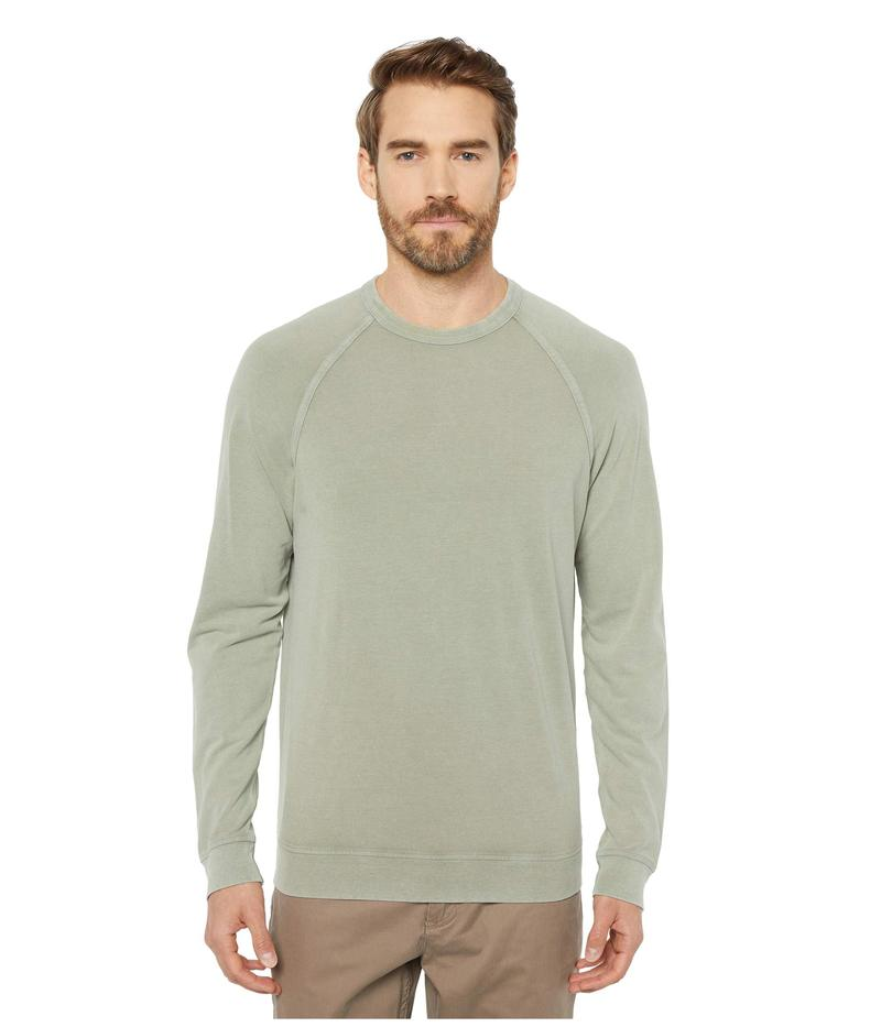 モッドドック メンズ シャツ トップス Tabletop Reef Long Sleeve Raglan Crew Oil Green/Stone