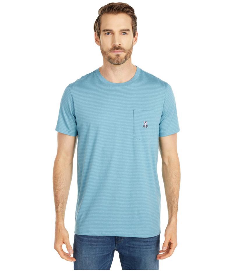サイコバニー メンズ シャツ トップス Wolcott Pocket Tee Shirt Adriatic
