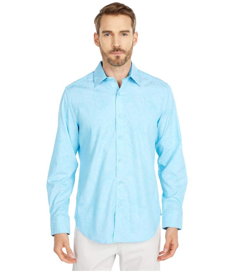 ロバートグラハム メンズ シャツ トップス Andretti Button-Up Shirt Teal