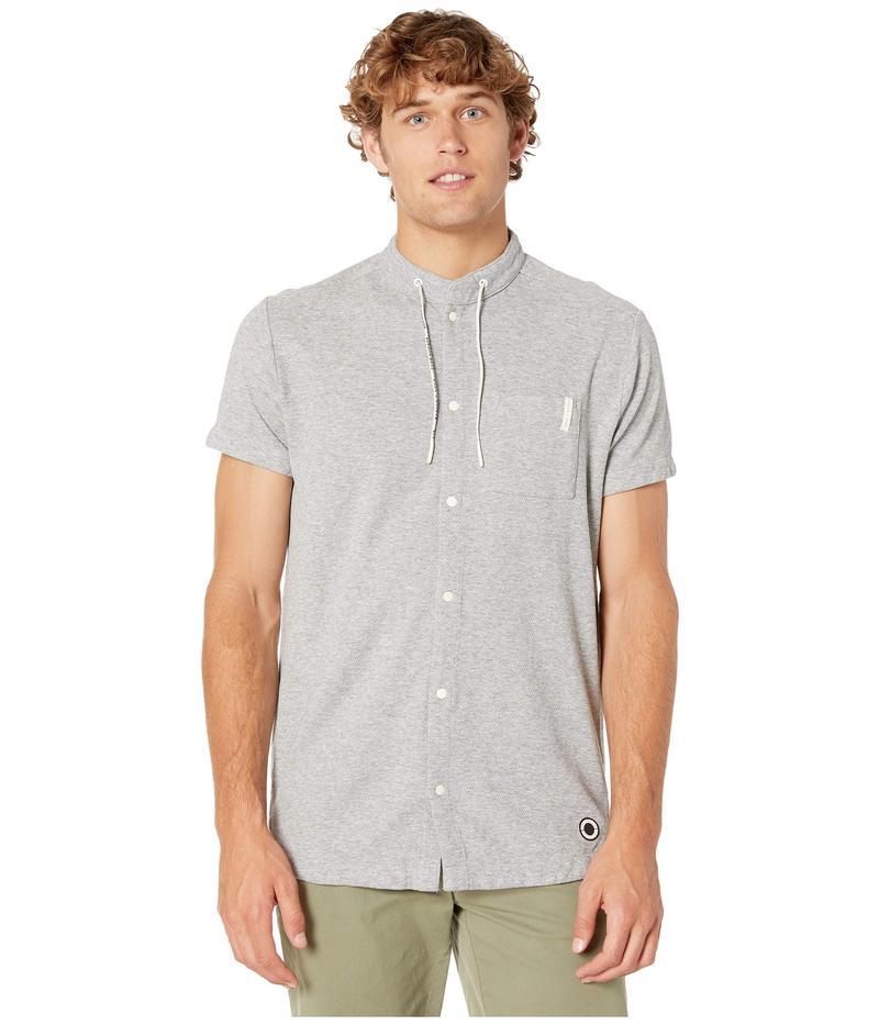 スコッチアンドソーダ メンズ シャツ トップス Club Nomade Short Sleeve Shirt with Technical Details Grey Melange
