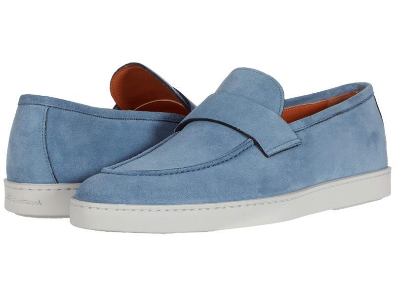 サントーニ メンズ スニーカー シューズ Pace Sneaker Blue Suede