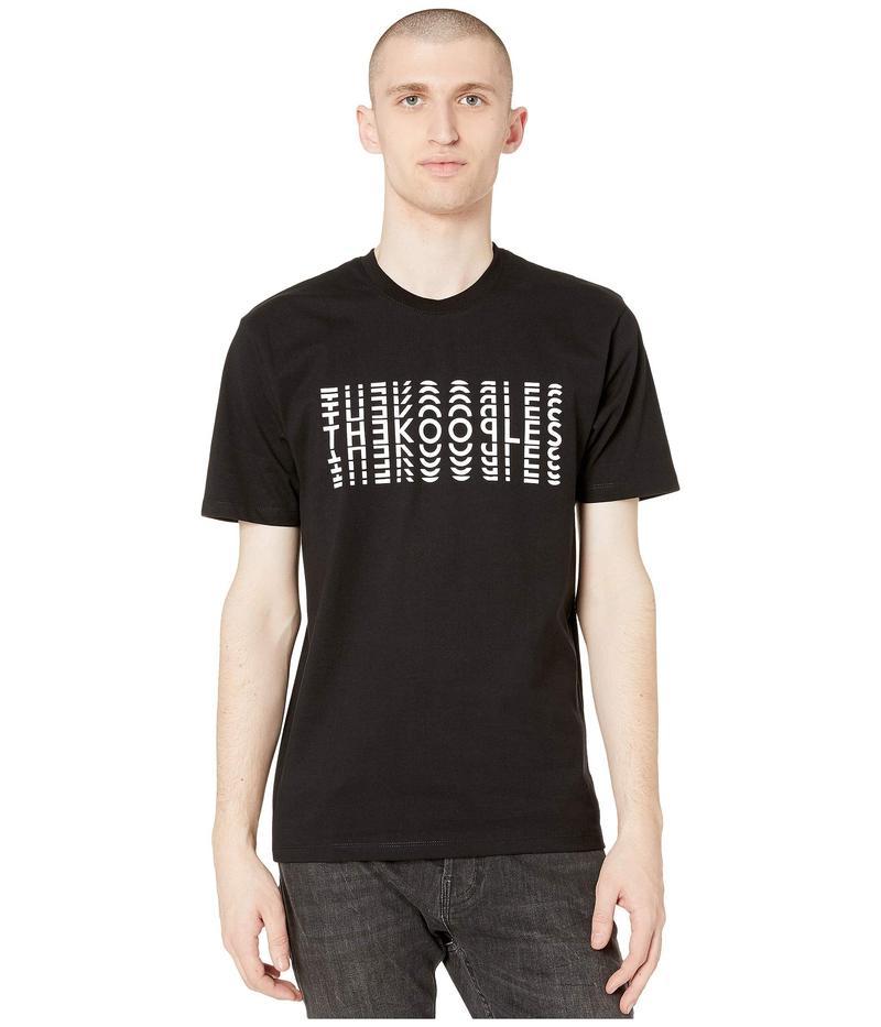 ザ・クープルス メンズ シャツ トップス Optical Logo T-Shirt Black