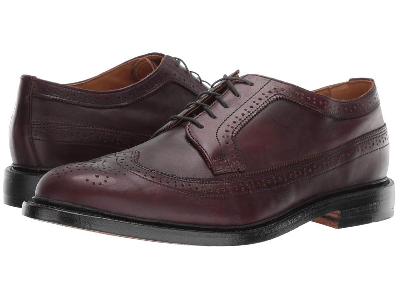 ボストニアン メンズ オックスフォード シューズ No. 16 Longwing Burgundy Leather