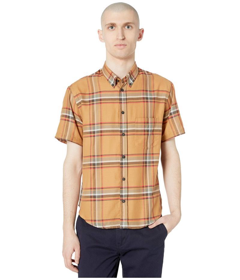 ビリーレイド メンズ シャツ トップス Kirby Short Sleeve Slim Shirt Brown/Red