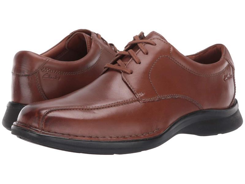 クラークス メンズ オックスフォード シューズ Kempton Run Tan Leather