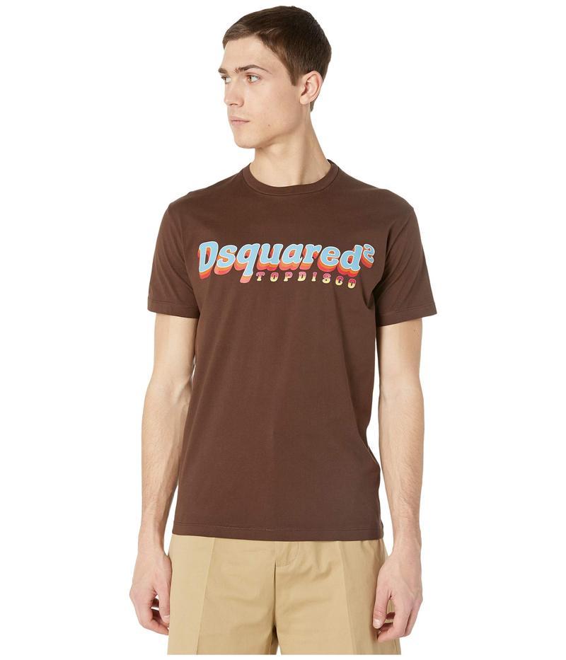 ディースクエアード メンズ シャツ トップス Ringer Top Disco T-Shirt Brown