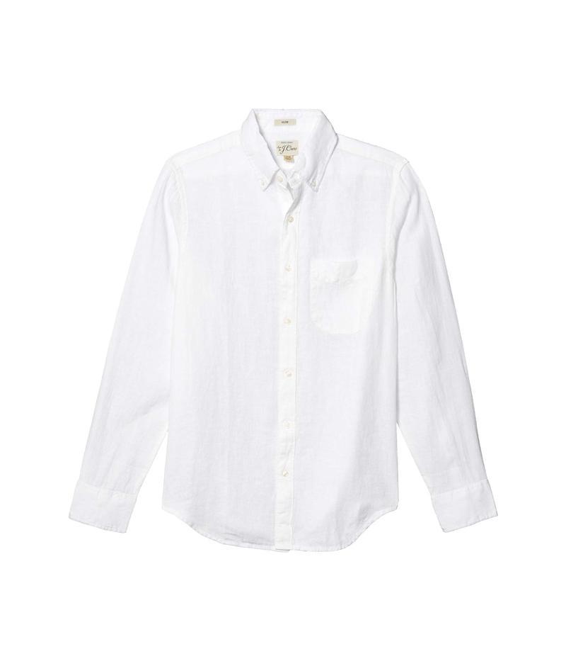 ジェイクルー メンズ シャツ トップス Slim Baird Mcnutt Irish Linen Shirt White