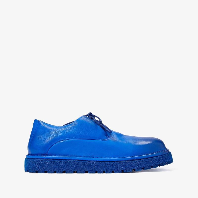 マルセル レディース オックスフォード シューズ Gomme Lug Sole Hiking Boot Blue