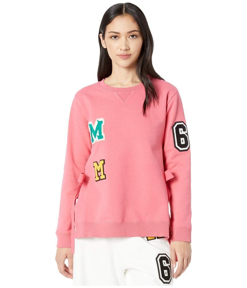 マルタンマルジェラ レディース パーカー・スウェット アウター Garment Dyed Patch Sweatshirt Pink
