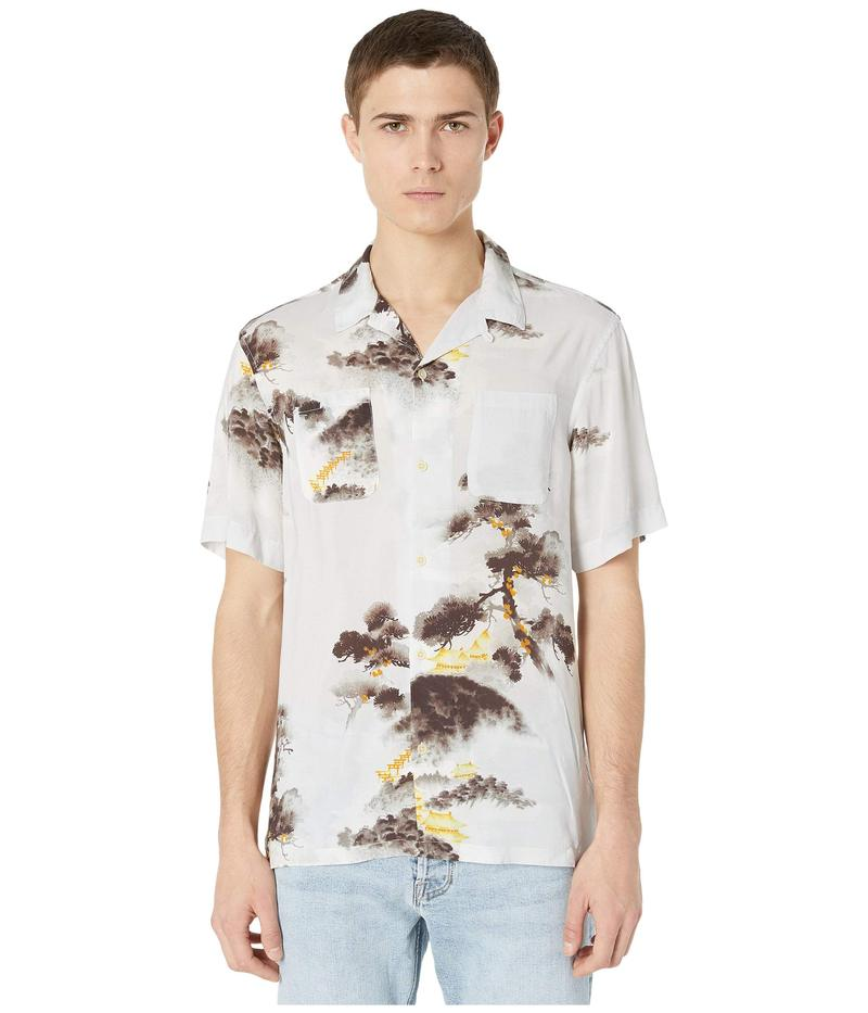 オールセインツ メンズ シャツ トップス Hida Short Sleeve Shirt Light Grey