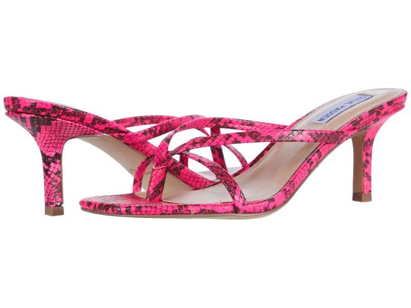 スティーブ マデン レディース ヒール シューズ Lolla Heeled Sandal Pink Multi Snake