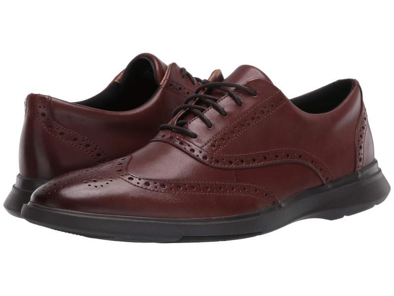 クラークス メンズ オックスフォード シューズ Un Lipari Ave Mahogany Leather