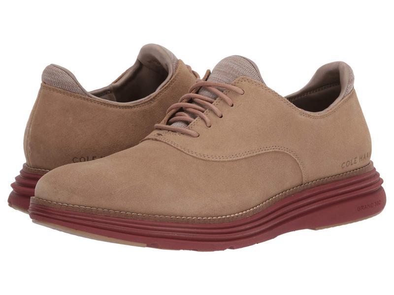 コールハーン メンズ オックスフォード シューズ Original Grand Ultra Plain Toe Ox Safari Suede/Brick Red