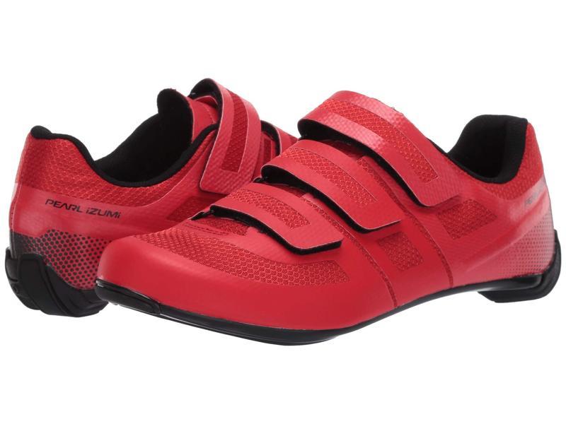 パールイズミ メンズ スニーカー シューズ Quest Road Cycling Shoe Torch Red/Black