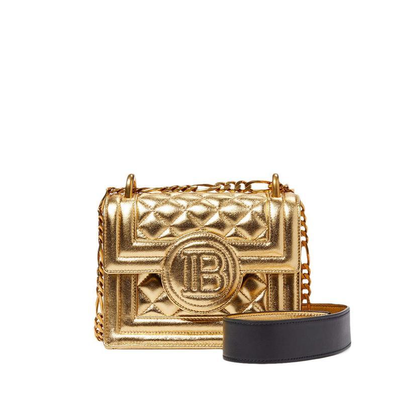 バルマン レディース ハンドバッグ バッグ Quilted Lambskin B-Bag Gold