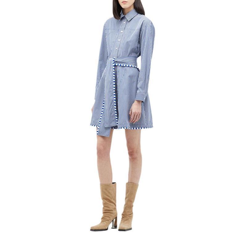 人気 デレクラムテンクロスバイ レディース ワンピース トップス Iona Belted Shirtdress Belted Iona Shirtdress Santorini Blue, いきいき健康館:066bacce --- kventurepartners.sakura.ne.jp