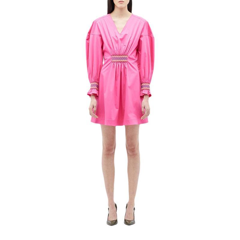 品質保証 デレクラムテンクロスバイ w/ レディース ワンピース トップス Katerina Dress Vibrant w Katerina/ Smocking Detail Vibrant Pink, 6DEGREES-ONLINE:e2bd7af2 --- kventurepartners.sakura.ne.jp