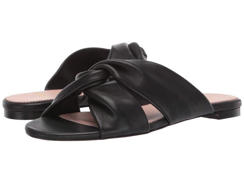 レディース シューズ Black Leather Soft Knotted Sandal ジェイクルー サンダル