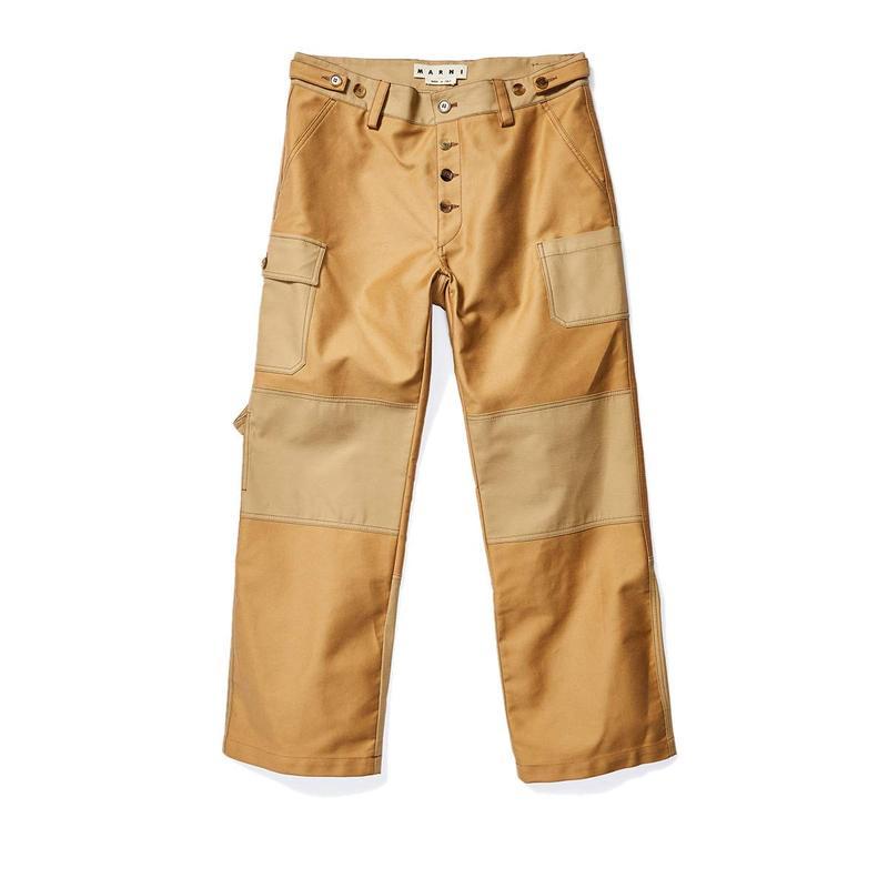 マルニ メンズ カジュアルパンツ ボトムス Double Knee Detail Painter Pants Beige
