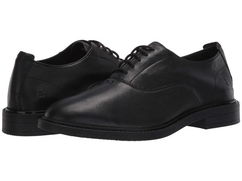 ハッシュパピー メンズ オックスフォード シューズ Davis Oxford PF Black Leather