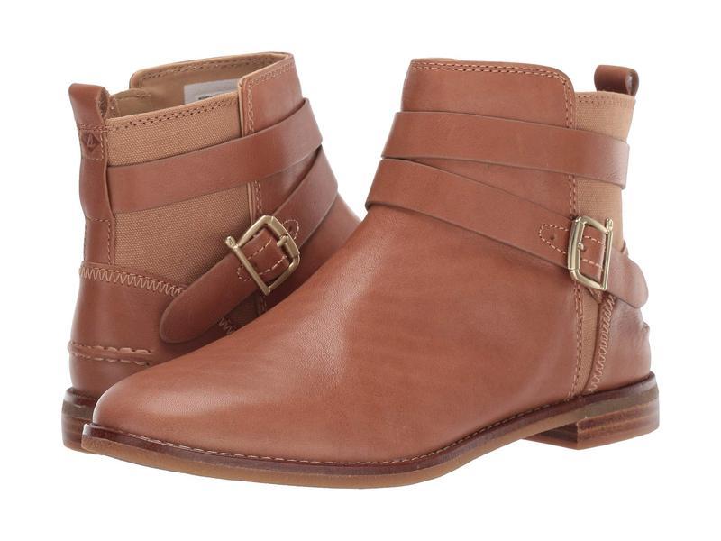 スペリー レディース ブーツ・レインブーツ シューズ Seaport Shackle Leather Boot Tan Leather