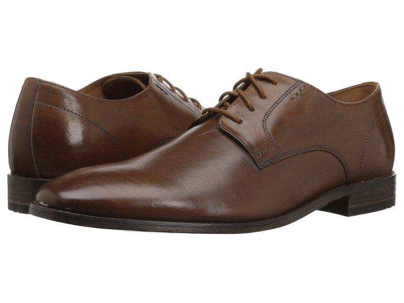 ボストニアン メンズ オックスフォード シューズ Nantasket Fly Dark Tan Leather