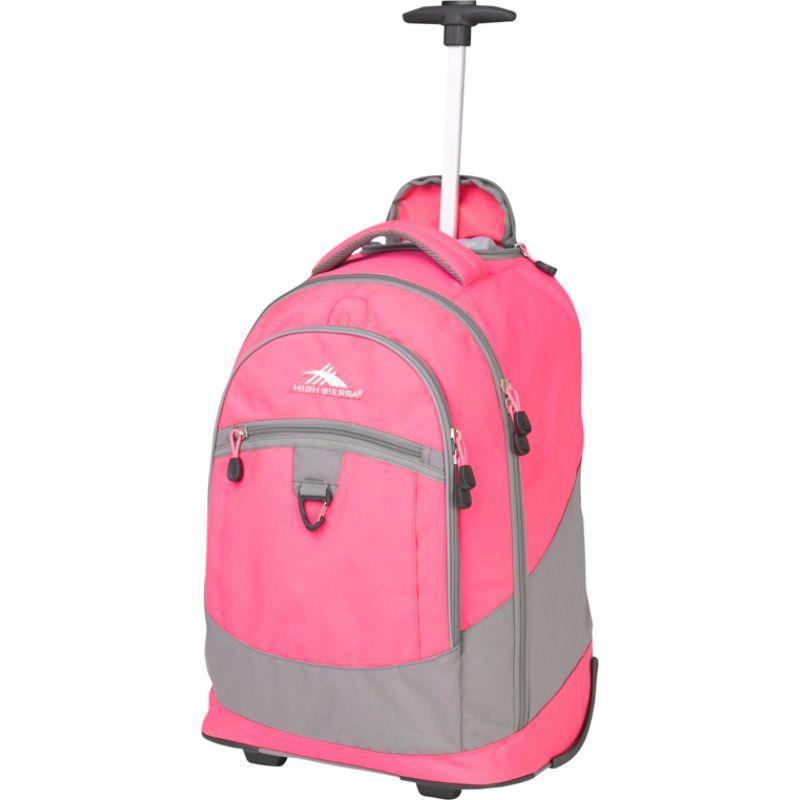 ハイシエラ メンズ バックパック・リュックサック バッグ Chaser Rolling Backpack Flamingo/Charcoal