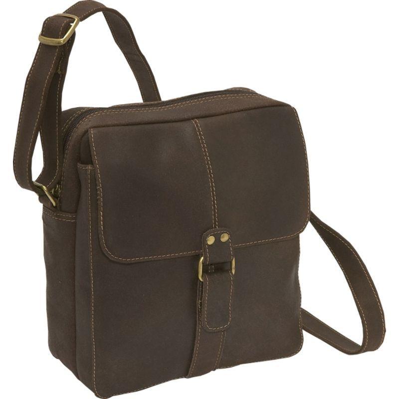 ルドネレザー メンズ ショルダーバッグ バッグ Distressed Leather Men's Bag Chocolate