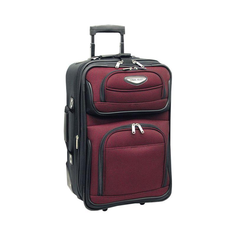 トラベラーズチョイス メンズ スーツケース バッグ Amsterdam 21 in. Expandable Carry-on Rolling Upright Burgundy