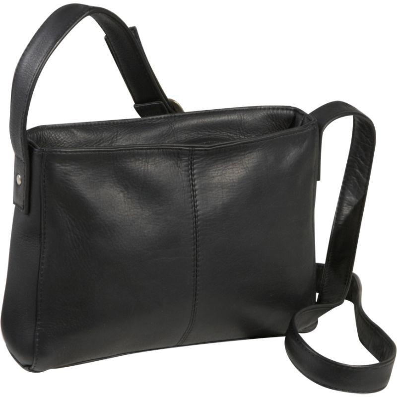 ルドネレザー メンズ ボディバッグ・ウエストポーチ バッグ Top Zip Crossbody Bag Black