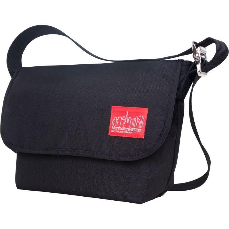 マンハッタンポーテージ メンズ ショルダーバッグ バッグ Vintage Messenger Bag JR. (M) Black