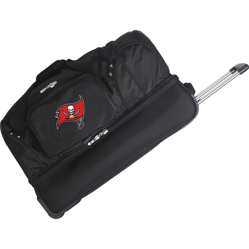 デンコスポーツ メンズ スーツケース バッグ NFL 27 Drop Bottom Wheeled Duffel Bag Tampa Bay Buccaneers